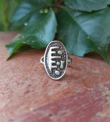 Boho srebrni prsten (.925)