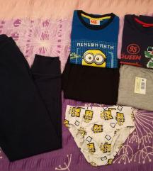 Lot pidžama+Spužva Bob gaćice+poklon 122-128