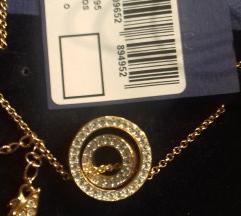 Nova Swarovski ogrlica Rose gold