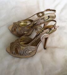 NOVE Zlatne sandale na petu