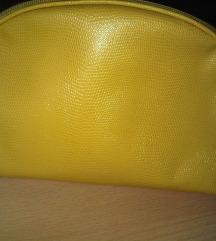 Žuta kozmetička torbica