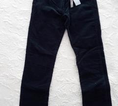 Samt modre hlače za curicu 134 cm 8/9 g