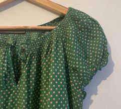 Točkasta Zara bluza s puf rukavima