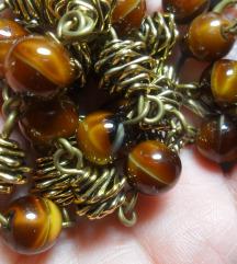 Vintage ogrlica staklene perle