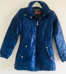 Plava sjajna jakna parka vel XS-S