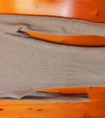 Uska siva tunika haljina