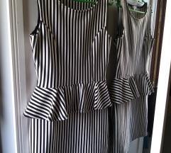 Mini haljina s peplumom