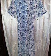 Baby blue maxi haljina sa pojasom