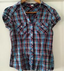 Košulja karirana crveno plava H&M vel. S