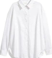 H&M bijela oversized košulja