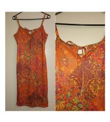 Naranđasta haljinica paisley uzorka 36 S
