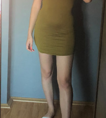 Zelena mini haljina