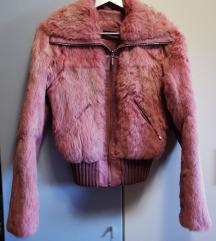 Krznata kozna jakna (pravo krzno zec)