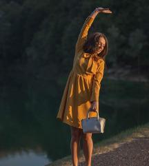 Žuta haljina s mašnom