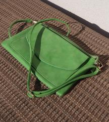 Mala ženska torbica zelene boje