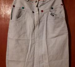 Traper suknja sa gumbićima