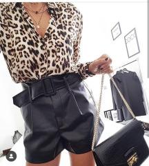 Zara zivotinjskog printa kosulja bluza, leopard