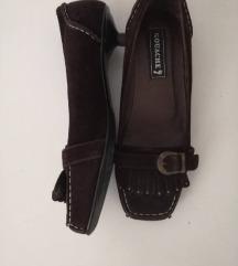 Smeđe elgentne cipele 38/prava koža sada 85kn %%%