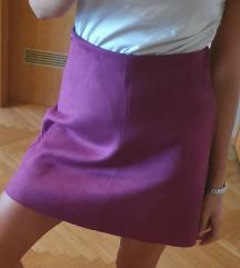 Violet suknja od brušene kože