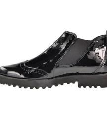 PAUL GREEN crne cipele, prava koža