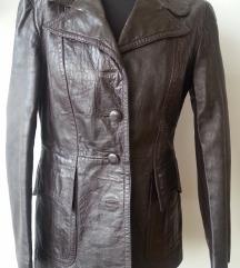 Smeđa kožna jakna 38 40
