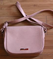 roza kožna torbica