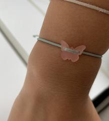 Borboleta candy narukvica mint roza