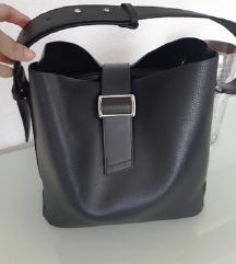 Crna kožna torba, NOVA! uklj.pt.