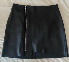 Kožna suknja Bershka M