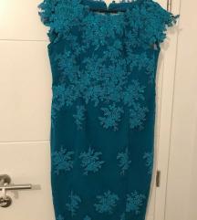 Svečana čipkasta haljina jednom obučena