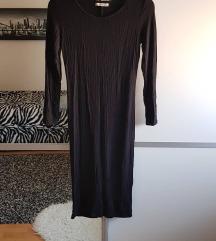 Bershka crna uska basic haljina