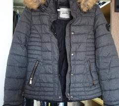 Pinkie siva jakna bundica s krznom S