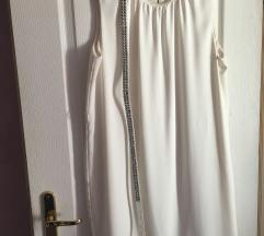 Bijela haljinica Zara basic remen poklon