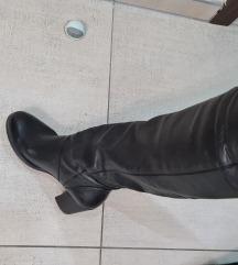 Crne kožne čizme 40