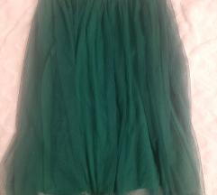 Zelena suknja od tila