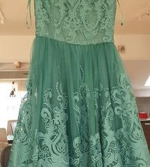 Zelena chi chi haljina