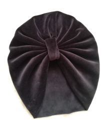 turban - crni pliš