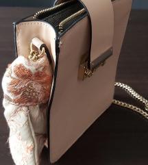 Puder roza bež mala torbica s maramom