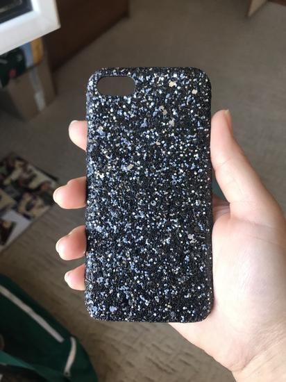 Crna šljokava maskica za Iphone 7