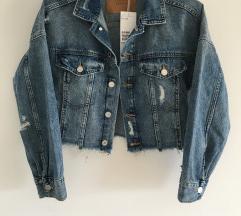 NOVA H&M Crop Traper denim jakna vel XS
