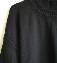 tamnoplava topla vesta 100%vuna