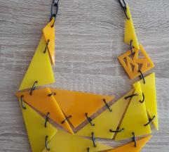 Žuta dizajnerska ogrlica