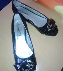 Balerinke,  lakirane,  crne cipele, sandale, NOVO