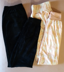 Plišani donji dio pidžame x2