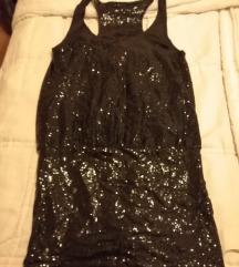 Crna haljina-šljokičasta