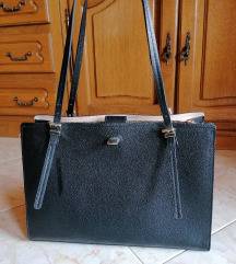 Poslovna crna torba sa ručkicama