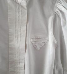Bijela bluza, 100% pamuk, UNIKAT, 34-36, uklj.pt