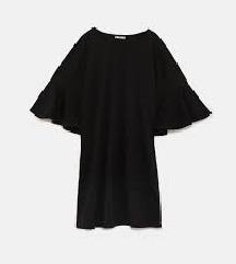 ZARA haljina s volanom na rukavima
