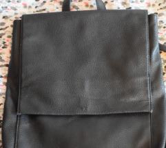 Asos crni kožni ruksak