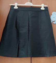 %Prava koža suknja